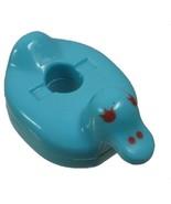 1990 Polly Pocket Dolls Bathtime Soap Dish - Blue Duck Float Bluebird Toys - $5.00