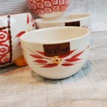 Nesting Measuring Cups, 4 piece set, Vintage ceramic, Temp-Tations Red Floral image 6