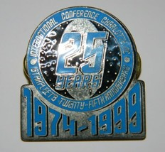 Starfleet Twenty-Fifth Anniversary International Conference Metal Pin 19... - $19.28