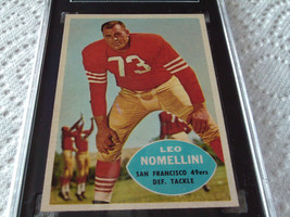1960   LEO  NOMELLI   # 121  TOPPS   SGC  84    SAN  FRANCISCO  49ers   ... - $34.99