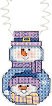 """Janlynn/Holiday Wizzers Counted Cross Stitch Kit 3""""X2.25""""-Snowman With S... - $7.07"""