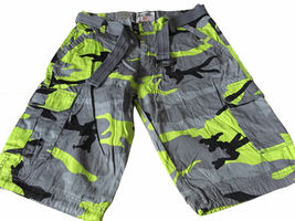 Men's Tactical Combat Military Army Cotton Twill Camo Cargo Shorts With Belt image 5
