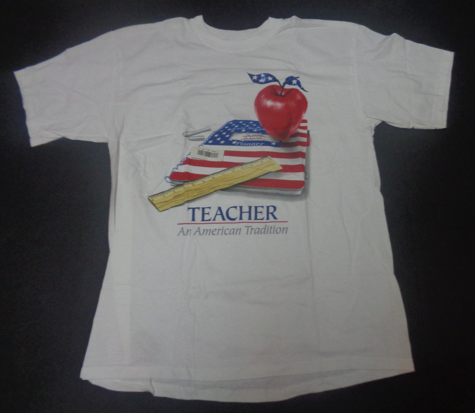 TEACHER AN AMERICAN TRADITION T-Shirt NWOT Sz Large Anvil Pre-Shrunk