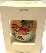 Hallmark Keepsake Satin Christmas Ornament Peanuts Dated 1981  - $13.64