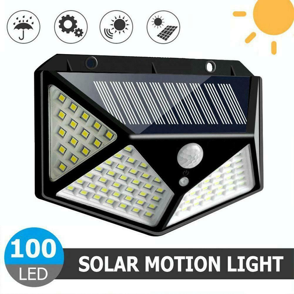 Primary image for Solar Power 100 LED Wall Light PIR Motion Sensor Waterproof Security Lamp Garden