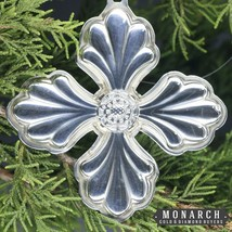 Vintage 1999 Reed & Barton Sterling Silver Christmas Cross Ornament - $62.95