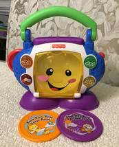 Fisher Price Laugh & Learn Sing-With-Me CD Player - Lights, Phrases and ... - $15.84
