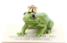 Hagen-Renaker Miniature Ceramic Frog Figurine Birthstone Prince 10 October