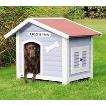Solid Pine Wood Weatherproof Dog House with Adjustable Feet - $292.80