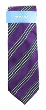 NEW COUNTESS MARA FIELDSTONE STRIPE PURPLE 100% SILK NECK TIE - $13.85
