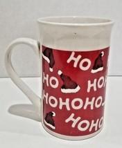 Royal Norfolk Christmas Coffee Mug Cup Santa's Hat Ho Ho Ho Red 12 fl oz... - $240,55 MXN