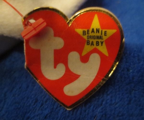 Ty Beanie Baby Gracie the Swan 4th Hang Tag 3rd Tush Tag 1996 PVC DAMAGED TAG