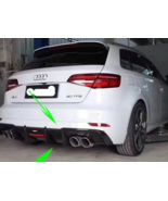 For Audi S3 Hatchback Carbon Fiber Rear Bumper Lip Diffuser 2017~2019 Car - $629.81
