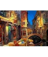 """Viktor Shvaiko """"Venetian Rendezvous"""" Canal Cafe Scene Signed# Embellishe... - $579.15"""
