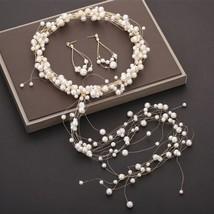Korea Pearl Headband Wedding Hair Accessories Korean Bridal Headpiece Ti... - £18.80 GBP