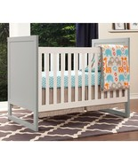 Baby Mod Modena Mod 2-Tone 3-in-1 Fixed-Side Convertible Crib, Gray/Whit... - $279.61