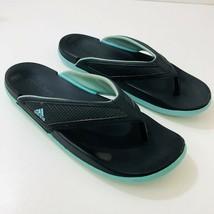 ADIDAS Adilette CF Summer Sandals Flip Flop Black/Aqua S81198 Womens Size 8 - £8.05 GBP