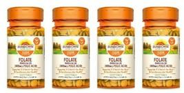 4 Sundown Naturals Folate 400 mg Vitamins, 350 Tablets Each, Exp 06 22 - $23.68
