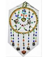 "Araina Sparkles Skull Candy Glass Bead Suncatcher Mandala 8"" Wide 16 3/4"" Long - $99.00"