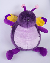 Unipak Plumpee Butterfly Plush Purple Yellow Bug Wings Roly Poly Fat Chu... - $9.95