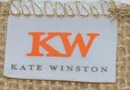 Kate Winston Brand Brown Burlap Monogram Black White F Garden Flag image 6