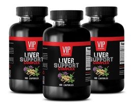 anti-inflammatory ingredients LIVER COMPLEX 1200MG milk thistle multivit... - $37.36