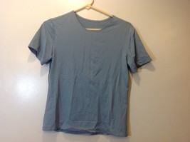 Pollinaise Simple Blue-Grey T-Shirt Sz LG