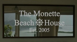 Custom Family Beach House Frosted Etched Glass Vinyl Wall Quote Sticker ... - $29.99+