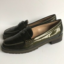Womens Coach 'Peyton' Patent Leather Loafers 8M Green  - $34.30
