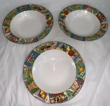 Sakura VINTAGE LABELS 8-3/8 inch Rim Soup/Cereal Bowl Stoneware Oneida R... - $29.99