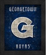 "Georgetown Hoyas ""Retro College Logo Map"" 13x16 Framed Print  - $39.95"