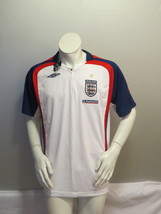 Team England Bench / Training Jersey - Home White by Umbro - Men's Large (NWT) - $75.00