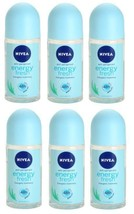 Nivea Energy Fresh Anti-Perspirant Roll On Deodorant 50ml (Pack of 6) - $19.99