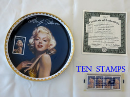 """Marilyn Monroe """"Sultry Yet Regal"""" Collector Plate PLUS 10 Stamps ($3.20)... - $23.76"""