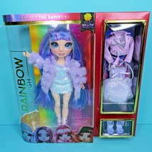 Rainbow High Violet Willow Purple Hair Fashion Doll 2 Outfits 2 Pairs Shoes New - $29.95