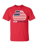 United States US Curling Team  Olympics Winter Men's Tee Shirt 1737 - $8.87+