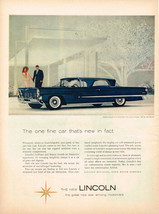 Vintage 1958 Magazine Ad Lincoln Brilliant New Beauty Distinctive Superiority - $5.93