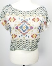 Forever 21 Cropped Top S Tribal Print Stretch - $19.79