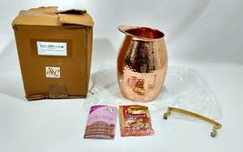 Rastogi Handicrafts Pure copper Hammered Jug  Hammered Broken - $35.77
