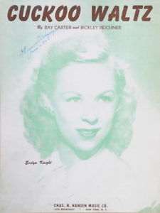 Primary image for Cuckoo Waltz  1948 Song Sheet