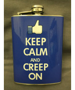 Keep Calm And Creep On Flask 8oz Stainless Steel Drinking Whiskey Cleara... - $7.92
