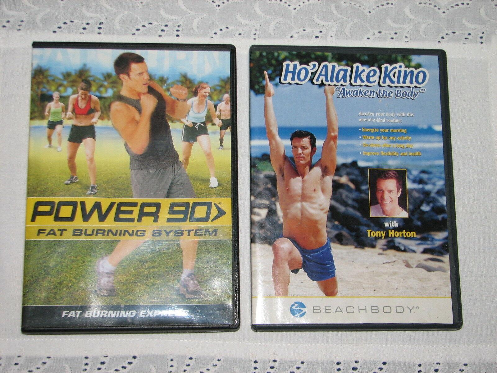 Two Tony Horton DVD's POWER 90 FAT BURNING SYSTEM HO'ALAKE KINO AWAKEN THE BODY