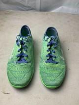 Nike Free Trail Flyknit Neon Green/Blue Women's Sneakers 718785-301 - $128.69