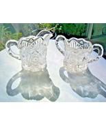 Imperial Glass Cream & Sugar Set #212 Nucut Pattern  c 1920's - $9.90
