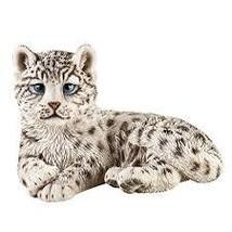 Snow Leopard Garden Statue Decoration - $30.88