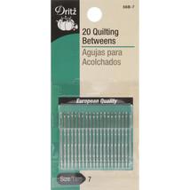 Dritz Quilting Betweens Hand Needles 20/Pkg-Size 7 - $5.47