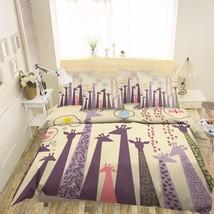 3D Cute Giraffes Bed Pillowcases Quilt Duvet Cover Set Single Queen King Size AU - $64.32+