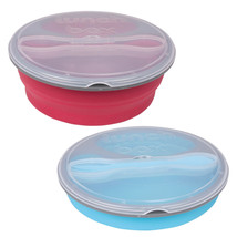 2 Pack Bento Box Lunch Box – Collapsible Compartment Lunch Box Assorted ... - $16.44