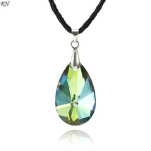 Big Transparent Crystal Water Drop Necklace For Women Jewelry Accessories Natura - $9.37