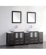 Vanity Art 84-Inch Double-Sink Bathroom Vanity Set With Ceramic Top VA31... - $2,084.41